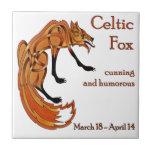 Fox céltico tejas  cerámicas