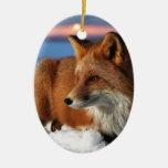 Fox Ceramic Ornament