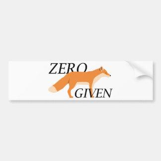Fox cero dado pegatina para auto