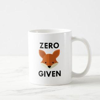 Fox cero dado taza de café