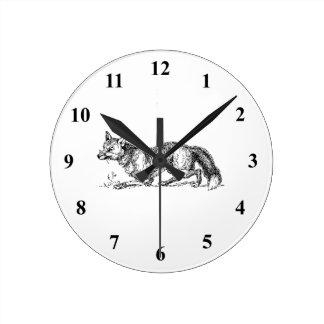 Fox Round Clock