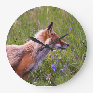 fox clock, foxy decor, fox cub gifts large clock