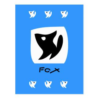 Fox color Postcard