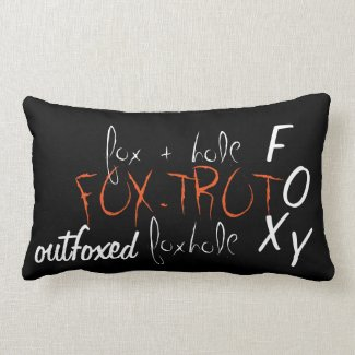 'Fox' Cotton Lumbar Pillow