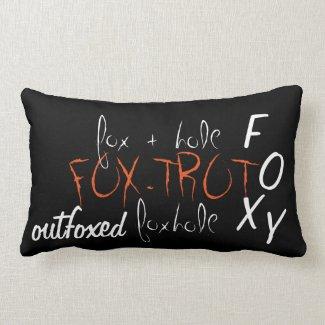 'Fox' Cotton Lumbar Pillow