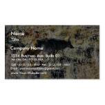 Fox Coyotes Wild Anilmal In Field Business Card Template
