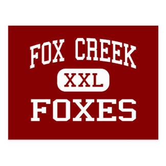 Fox Creek - Foxes - High - North Augusta Postcard