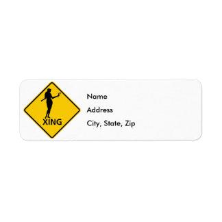 Fox Crossing Highway Sign Return Address Label