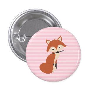 Fox curioso pin redondo 2,5 cm