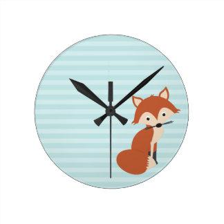 Fox curioso relojes de pared