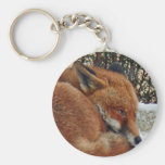 Fox day dreaming key chain