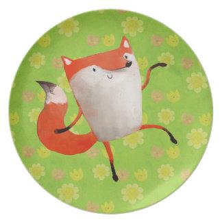 Fox de baile feliz plato