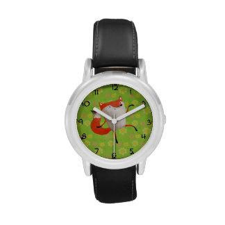 Fox de baile feliz relojes de pulsera