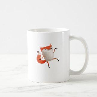 Fox de baile feliz taza básica blanca