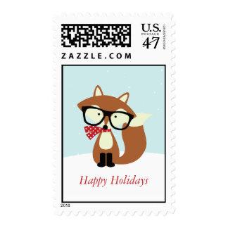 Fox de Brown del inconformista del día de fiesta Timbres Postales