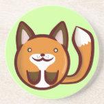 Fox de Chibi Posavasos Para Bebidas