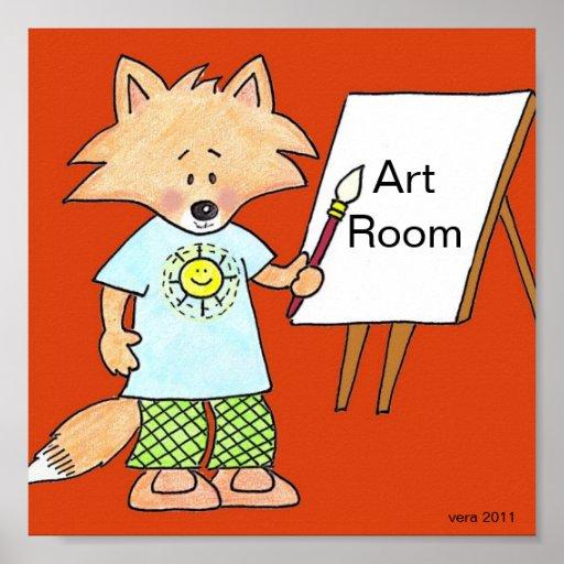 Fox de equipo el artista de Vera Trembach Póster