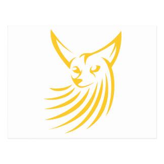 Fox de Fennec en estilo del dibujo del chasquido Postales