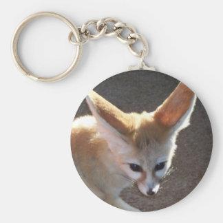 Fox de Fennec Llavero Redondo Tipo Pin