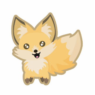 Fox de Kawaii Fotoescultura Vertical