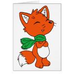 Fox de la bufanda felicitación