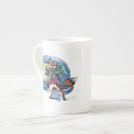 Fox de la linterna en el Snow~mug Taza De China