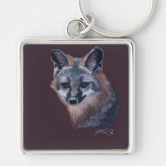 Fox de la montaña del arte del animal salvaje de C Llavero Personalizado