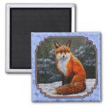 Fox de la nieve imán de frigorifico