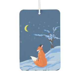 Fox de la noche del invierno