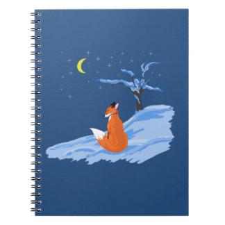 Fox de la noche del invierno libreta