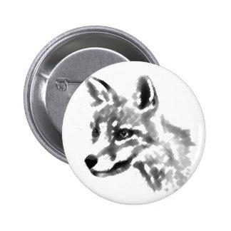 Fox de la sombra pin redondo de 2 pulgadas