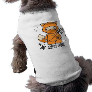 ¡Fox de Ninja Con ropa del mascota de Shurikens Camisas De Mascota