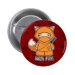 ¡Fox de Ninja! En botón rojo Pins