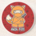 ¡Fox de Ninja! Práctico de costa del rojo de Ninja Posavasos Personalizados