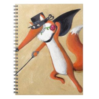 Fox de Zorro Libros De Apuntes Con Espiral