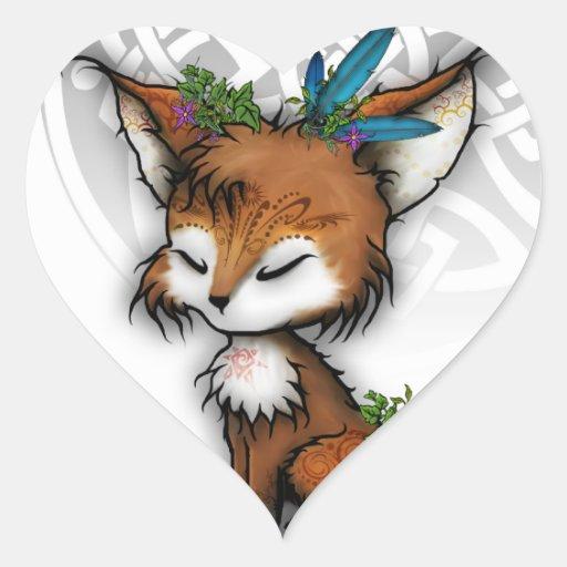 Fox del alcohol pegatina en forma de corazón