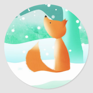 Fox del amo - pegatinas etiquetas redondas