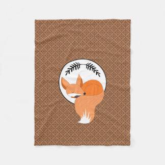 Fox del arbolado el dormitar acogedor manta de forro polar