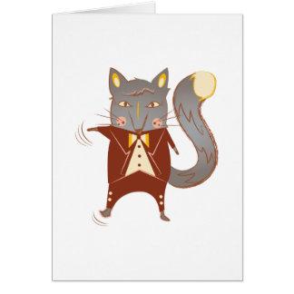 Fox del baile tarjeta de felicitación