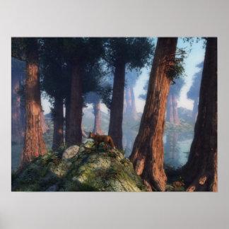 Fox del bosque póster