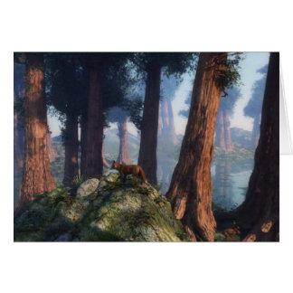 Fox del bosque tarjeta de felicitación
