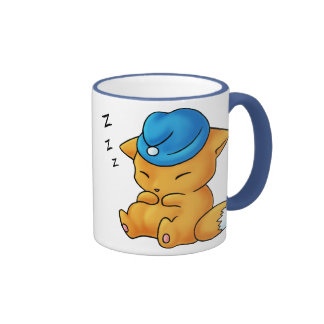 Fox del casquillo el dormir taza de dos colores