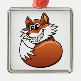 Fox del dibujo animado ornamento para reyes magos