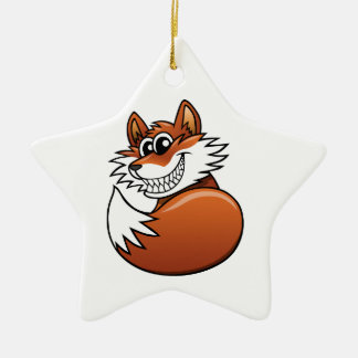 Fox del dibujo animado ornato