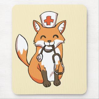 Fox del doctor o de la enfermera que dibuja el mousepad
