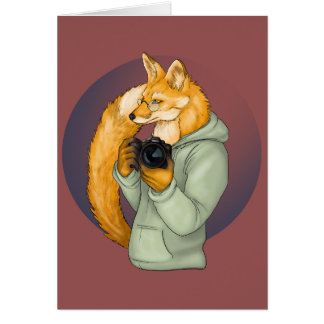 Fox del fotógrafo del inconformista tarjeta de felicitación
