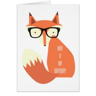 Fox del inconformista tarjeta de felicitación
