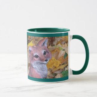 Fox del jardín taza