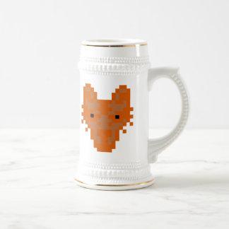 Fox del pixel taza de café