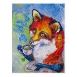 Fox del té tarjetas postales